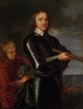 Reprodução do quadro Portrait of Oliver Cromwell (1599-1658)