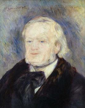 Reprodução do quadro  Portrait of Richard Wagner (1813-83) 1882