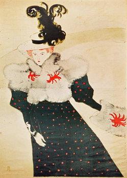 Reprodução do quadro  Poster advertising 'La Revue Blanche', 1895 (colour litho)
