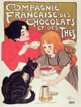 Reprodução do quadro Poster advertising the Compagnie Francaise des Chocolats et des Thes, c.1898