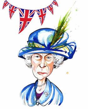 Reprodução do quadro Queen Elizabeth II  2012, by Neale Osborne