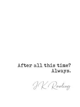 Ilustração Quote Rowling