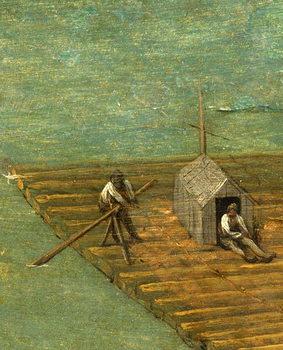 Reprodução do quadro Raft detail from Tower of Babel, 1563