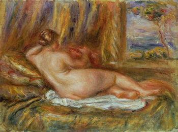 Reprodução do quadro  Reclining nude, 1914