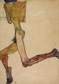 Reprodução do quadro  Reclining Nude Man, 1910