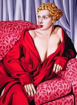 Reprodução do quadro Red Kimono