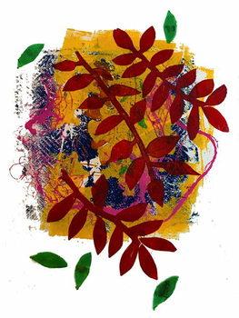 Reprodução do quadro Red leaves
