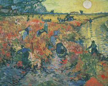 Reprodução do quadro  Red Vineyards at Arles, 1888