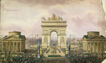 Reprodução do quadro Return of the Ashes of the Emperor to Paris, 15th December 1840