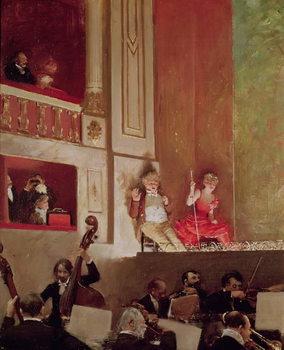 Reprodução do quadro  Revue at the Theatre des Varietes, c.1885