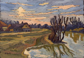 Reprodução do quadro  Road into Dusk, 2004