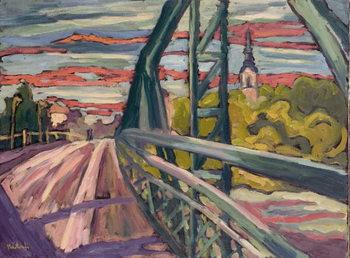 Reprodução do quadro  Road to my Town, 2004