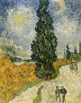 Reprodução do quadro  Road with Cypresses, 1890