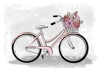 Ilustração Romantic Bike