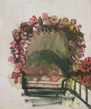 Reprodução do quadro Roses arches, Giverny, 1912-13