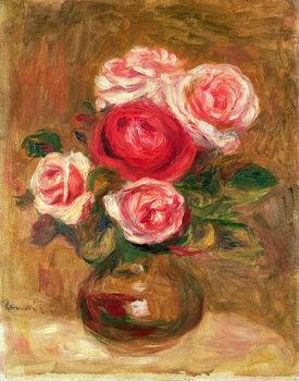 Reprodução do quadro  Roses in a pot