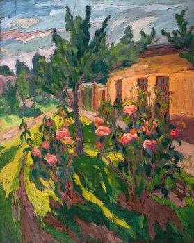 Reprodução do quadro  Roses in my Forecourt, 2012