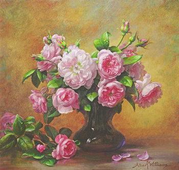 Reprodução do quadro  Roses of Sweet Scent and Velvet Touch