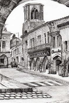 Reprodução do quadro  Sauveterre France, 2010,