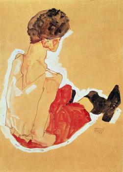 Reprodução do quadro  Seated Woman, 1911