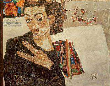 Reprodução do quadro  Self Portrait, 1911