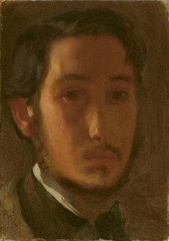 Reprodução do quadro Self-Portrait with White Collar, c.1857
