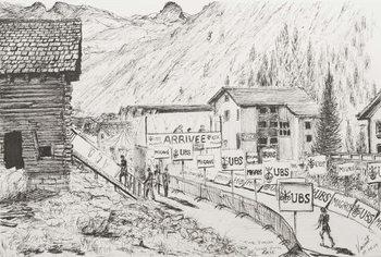 Reprodução do quadro Sierre to Zinal Mountain Race, The Finish, 2009,