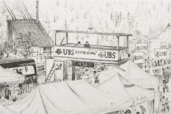 Reprodução do quadro  Sierre to Zinal Mountain Race, The Finish 2012.
