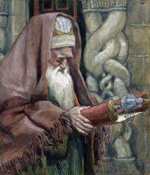 Reprodução do quadro Simeon, illustration for 'The Life of Christ', c.1886-94