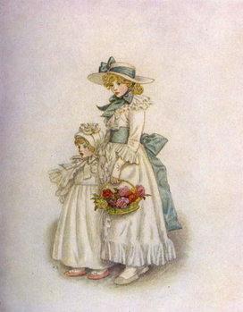 Reprodução do quadro 'Sisters' by Kate Greenaway