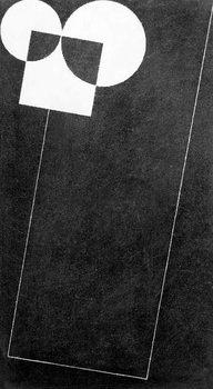 Reprodução do quadro Slate, with Square and Two Cirles, 2004