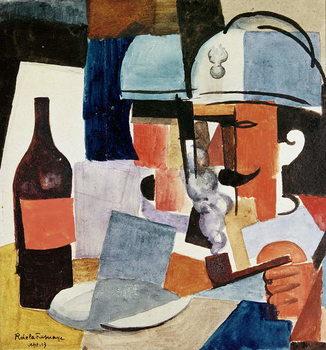 Reprodução do quadro Soldier with Pipe and Bottle