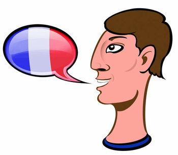 Reprodução do quadro Speaking French - illustration