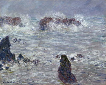 Reprodução do quadro  Storm, off the Coast of Belle-Ile, 1886
