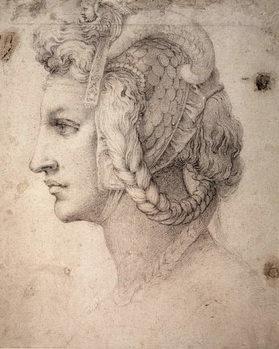 Reprodução do quadro Study of Head