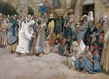 Reprodução do quadro  'Suffer the Little Children to Come Unto me', illustration for 'The life of Christ', c.1886-96
