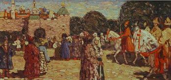 Reprodução do quadro  Sunday, Old Russia, 1904