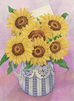 Reprodução do quadro  Sunflowers, 1998