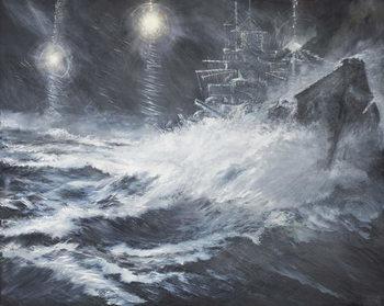 Reprodução do quadro  Surprised By Starshell Scharnhorst at North Cape, 2008,