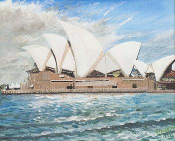 Reprodução do quadro  Sydney Opera House, 1998,
