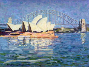 Reprodução do quadro Sydney Opera House, AM, 1990