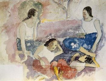 Reprodução do quadro  Tahitian Women, from 'Noa Noa, Voyage a Tahiti', published 1926