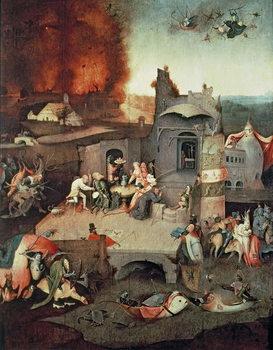 Reprodução do quadro  Temptation of Saint Anthony, c.1500