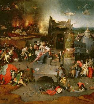 Reprodução do quadro  Temptation of St. Anthony (centre panel) (detail of 59834) (see also 35965, 44162, 59834, 67838, 67839 and 29108),