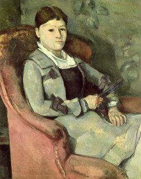 Reprodução do quadro  The Artist's Wife in an Armchair, c.1878/88