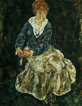 Reprodução do quadro  The Artist's wife seated, c.1912