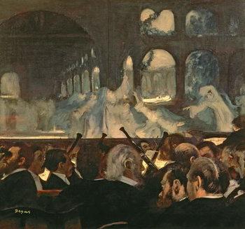 Reprodução do quadro  The ballet scene from Meyerbeer's opera 'Robert le Diable', 1876