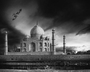 Arte Fotográfica Exclusiva the banks of the Jamuna river