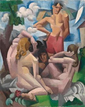 Reprodução do quadro  The Bathers, 1912