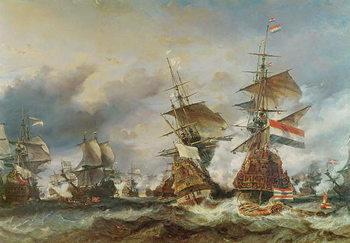 Reprodução do quadro  The Battle of Texel, 29 June 1694